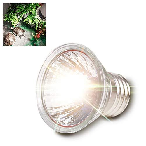 Hihey 50W Schildkröte Wärmelampe E27 Fassung 360 ° Drehbar mit UVA und UVB Strahlung Spotlicht die Synthese von Vitamin D3 zu Fördern für Reptilien, Echsen,Schildkröten