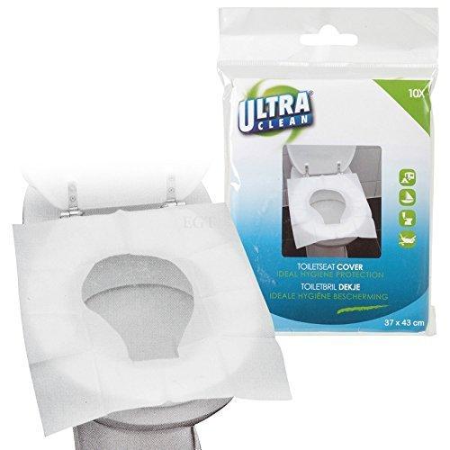 Buste coprisedili usa e getta per WC, di alta qualità, smaltibili nello scarico del WC, per una protezione igienica nella toilette, White, 50 Covers