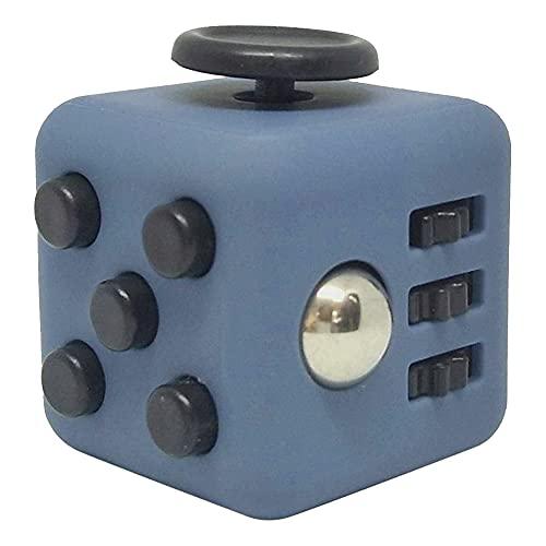 Hicollie Fidget Stresswürfel Cube gegen Stress unruhige Hände Stresswürfel Anti-Stress-Würfel mit 5 Funktionen gegen Nervosität Spielzeug Kinder Schreibtisch Spielzeug Stress Relief Würfel (1)