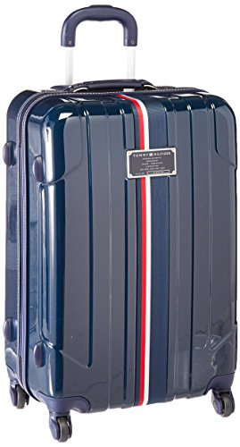 Tommy Hilfiger Lochwood Hardside Spinner Luggage, Navy, 24 Inch