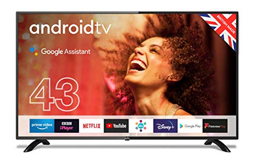 """Cello ZG0234 43"""" Smart Android TV with Freeview Play, Google Assistant, Google Chromecast, 3 x HDMI and 2 x USB 