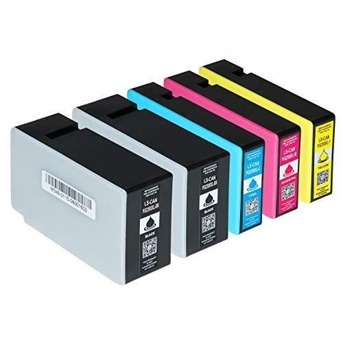 5 Logic-Seek Tintenpatronen kompatibel zu Canon Maxify MB5150 MB5350 MB5450 IB4050 - PGI-2500XL Multipack
