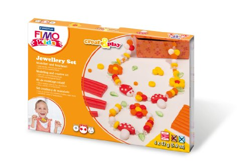 Staedtler 8033 02 - Fimo kids Create & Play Jewellery Flowers, Level 2