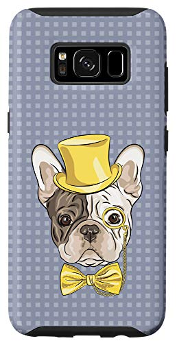 Galaxy S8 French Bulldog Grey Case Frenchie Lovers Gift Cute Bowtie Case