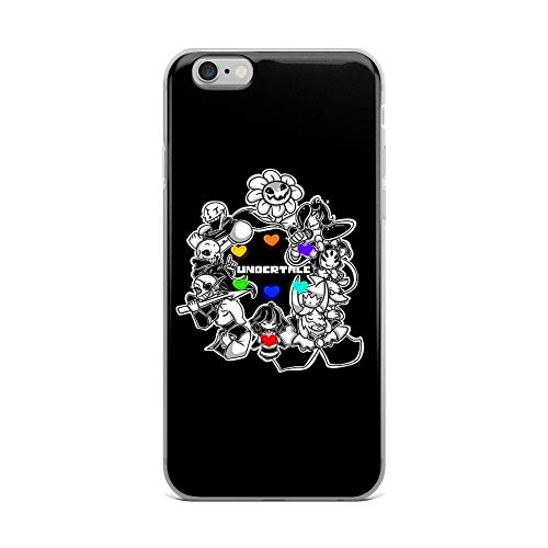 iPhone 6 Plus/6s Plus Pure Clear Case Cases Cover Everyone from Undertale (Flowey, Frisk, Sans, Papyrus, Toriel et