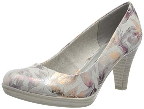 MARCO TOZZI Damen 2-2-22411-34 Pumps, Grau (Lt.Grey Flower 265), 40 EU