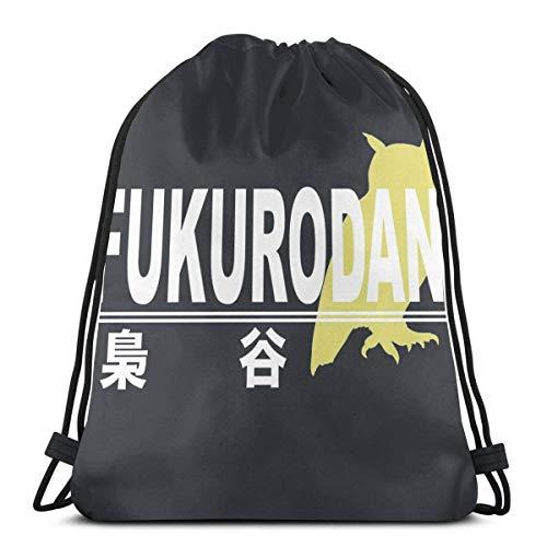 Bolsas de cuerdas para el gimnasio Fukurodani High School Logo Sport Bag Gym Sack Mochila con cordón Mochilas Casual Unisex Escuela Bolsa de Cuerda Bolsas de Gimnasia 36*42cm