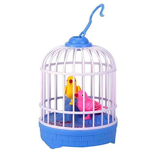 BSOL Voice-geactiveerde Vogelkooi Speelgoed, Kleine Vogelkooi Draagbare Kleine Vogel Reiskooi Huisdier Thuis, Canarische Papegaai Papegaai Reiskooi