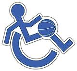 DKISEE Calcomanía de vinilo impermeable de 6 pulgadas para sillas de ruedas accesibles de baloncesto, coches, ventanas, espejos, ordenadores portátiles, dispositivos móviles