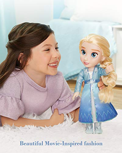Disney Frozen 2 Elsa Adventure Doll, 14' Tall with Shimmery Ice Crystal Winged Cape, Boots & Gorgeous Hairstyle - for Ages 3+