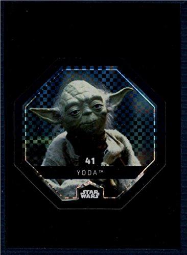 2017 Winn Dixie Star Wars Cosmic Shells Foil #41 Yoda NM-MT