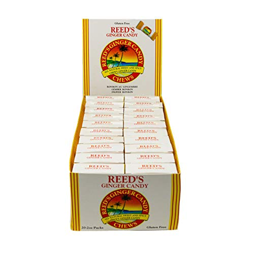 Reed's, Ginger Chews, Delicious All Natural Sweet and Spicy Chewy Ginger Candy (2 OZ, Pack of 20)