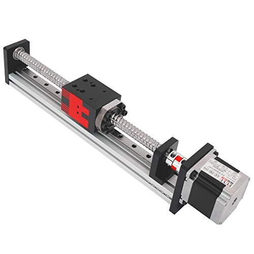 FUYU FSL40 Linear Guide Slide Table Ball Screw Motion Rail CNC Linear Guide Stage Actuator Motorized Nema 23 Stepper Motor[200mm Stroke]