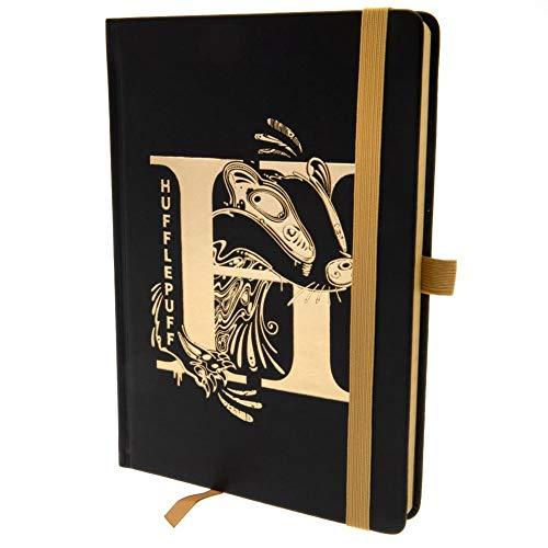 HARRY POTTER - Cuaderno oficial de Hufflepuff (Talla Única) (Negro/Oro)