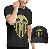 AYYUCY Camisetas y Tops Hombre Polos y Camisas, Valencia CF Futbol Spain España Soccer Men's Casual Short Sleeve with Cowboy Hat Cap