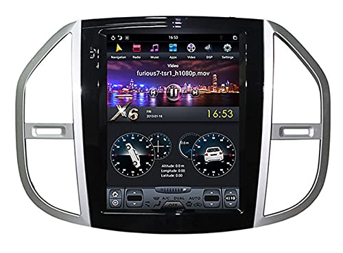 Android 10.0 Car Stereo Double Din para Mercedes Benz Vito 3 W447 2006-2012 Navegación GPS Unidad principal de 9 pulgadas Reproductor multimedia Receptor de video y radio con 4G WIFI DSP Carplay