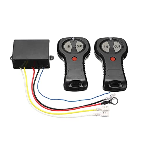 Jeromeki Kit de Control Remoto de Cabrestante InaláMbrico de 12V / 24V con Transmisor Manual Doble para SUV CamióN Coche