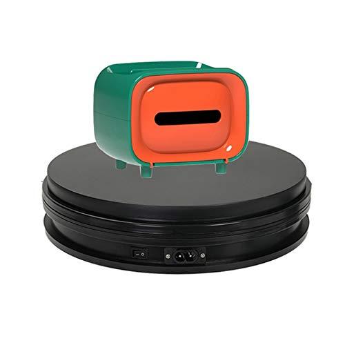 YSJX Base Giratoria Eléctrica 25cm Soporte de 10kg Plataforma Rotatoria 360°,20s/r,Display Stand...