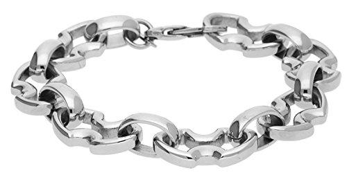 Police Herren Armband Edelstahl Silber RAVEN PJ23834BSS-01-L