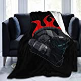 Voglawear Halo ODST Helmet Red Flame 50'X40' Fleece Blanket, Very Soft Microfiber Flannel Blanket for Couch Warm and Cozy for All Seasons