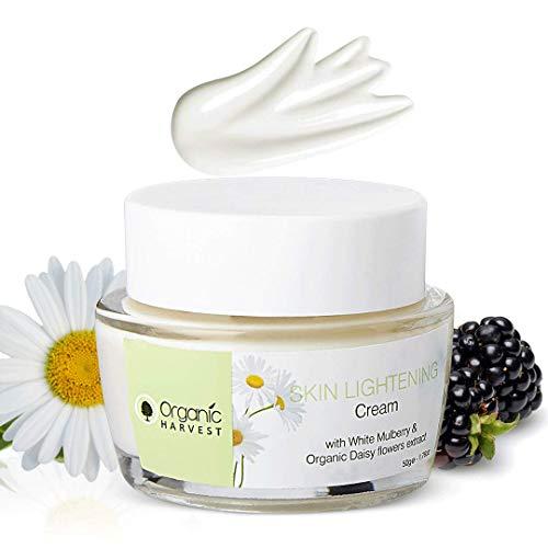 Organic Harvest Skin Lightning & Brightning Cream For Women | Ideal For All Skin Type | Reduces Dark Spot, Protect From Sun Damage, Lighten Skin Tone | Paraben & Sulphate Free - 50 gm