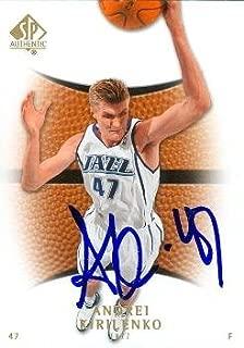 Autograph 54095 Utah Jazz 2008 Upper Deck Sp No. 80 Andrei Kirilenko Autographed Basketball Card