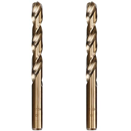 Hymnorq 13mm Metric Twist Drill Bit Set of 2pcs - Jobber Length Fully Ground Straight Shank – 5% Cobalt M35 Grade HSS-CO, Extremely Heat Resistant – Perfect for Stainless Steel Cast Iron