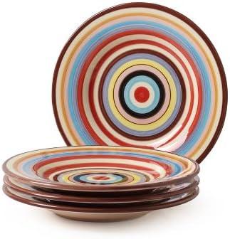 popular Tabletop Lifestyles 8-3/4-Inch Salad 2021 Plate, Sedona Stripe,Set of new arrival 4 online sale
