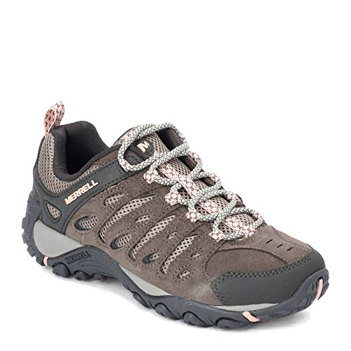 Merrell Women's CROSSLANDER 2 Hiking Shoe, Boulder/Peach, 9.5 M US