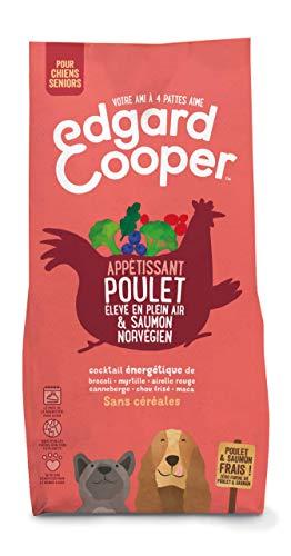 Edgard & Cooper, Croquettes Chien Senior sans Cereales, Nourriture Chien Naturelle Poulet Frais élevé en Plein air & Saumon norvégien 2.5kg Alimentation équilibrée complète Saine de qualité