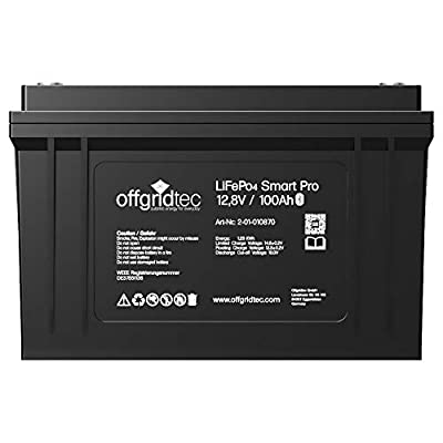 Offgridtec® LiFePo4 Batterie 12/100 12,8V 100Ah 1280Wh BMS integriert inkl. Bluetooth Überwachung