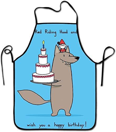 N\A Campana y Lobo Delantal Impermeable Unisex Delantal de Cocina Accesorios de Cocina para Hornear Cocina Craftsman Hood and Wolf