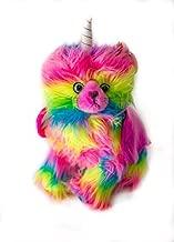 Rainbow Unicorn Kitten Stuffed Toy with Pink Wings Plush