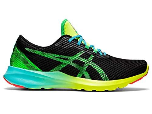 ASICS Men's Versablast Running Shoes, 10, Black/New Leaf