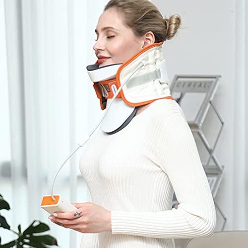 Dispositivo De Tracción del Cuello Cervical Inmovilizador De La Cabeza Soporte Cervical Collar Cervical Dispositivo De Tracción del Cuello, Collar Ortopédico Soporte para Alivio del Dolor De C