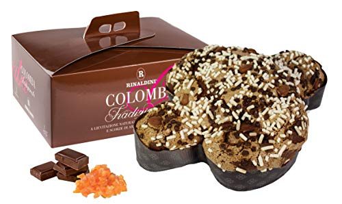 Rinaldini Colomba al Cioccolato Fondente Vietnam 73% E Scorze di Arance di Sicilia Candite, Lievitazione Naturale, 1 kg