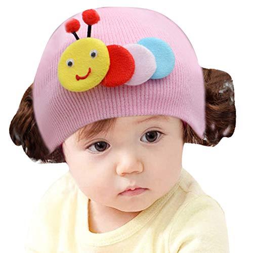 dontdo Prinzessin Kinder Mütze Ohrenschützer Kopf Hut Niedlich Kaninchen Tier Baby Mädchen Jungen Wolle Garn Stricken Perücke Hut Schädel Kappe Beanie Rosa Angles