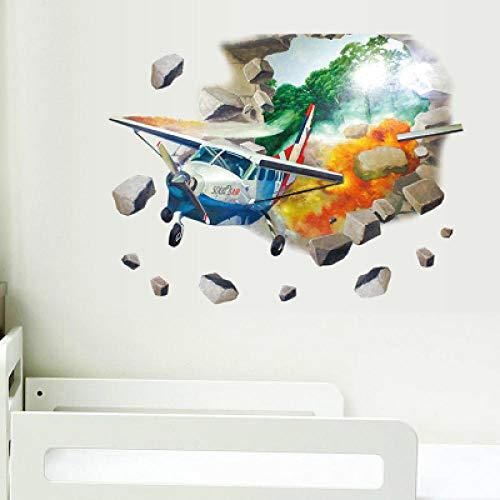 Home Muurstickers Kinderkamer Slaapkamer Muurstickers 3D Cartoon Vechten Vliegtuigen Muurstickers