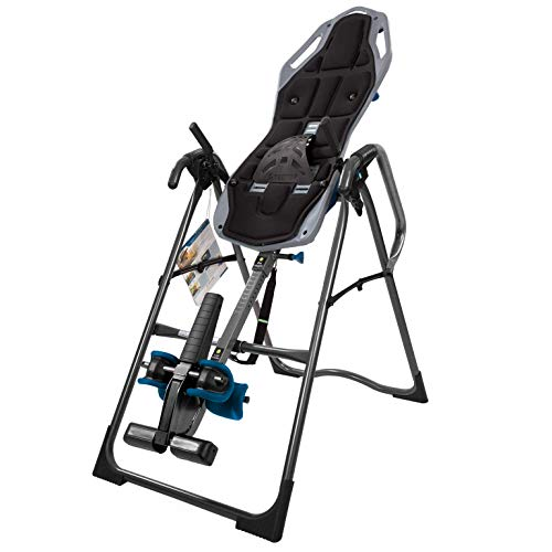 Teeter FitSpine X2 Inversion Table, Extended Ankle Lock Handle, Back Pain Relief Kit, FDA-Registered (X2 + Comfort Cushion)