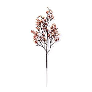 Silk Flower Arrangements Artificial and Dried Flower Home Wedding Decor Artificial Baby's Breath Gypsophila Flowers Bouquet 50cm Artificial Flower Functional - ( Color: Coffee )