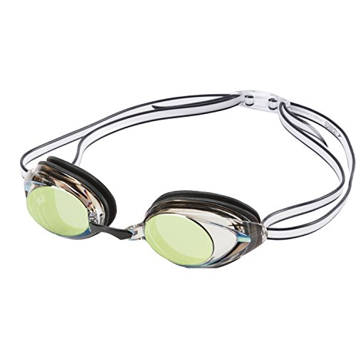 Speedo Women's Vanquisher 2.0 Mirrored Swim Goggles, (Sport Black, One Size)
