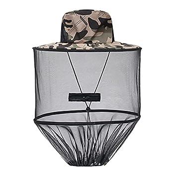 XYDZ Chapeaux de Pêche pour Abeilles, Filet de Visage, Mosquito Head Net Mesh, pour la pêche, le camping, l'apiculture activités en plein air, Unisexe, pour Adulte