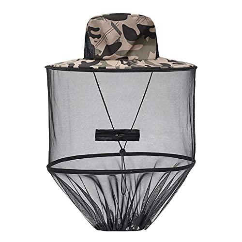 XYDZ Cappello da Apicoltore Cappello da Sole Cappello con Zanzariera Cappello con Velo Antizanzara Anti-Ape Anti-Insetto Protezione Facciale per Apicoltura, Campeggio,Pesca all'aperto