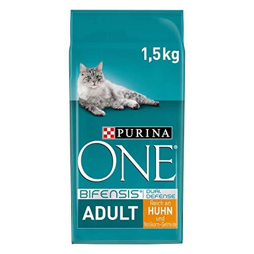 PURINA ONE BIFENSIS Adult Katzenfutter trocken, reich an Huhn, 6er Pack (6 x 1,5kg)