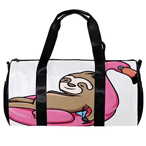 Bolsa de deporte redonda con correa de hombro desmontable, para natación, verano, piscina, dibujos animados, para mujer y hombre