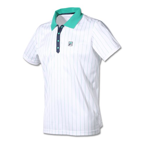 Fila Oberkörper-Bekleidung Polo Stripe1 Men Poloshirts, weiß, XL