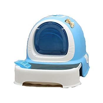 Rory Dissociables De Toilette pour Chat, Plus Grand Espace Litière Tiroir Type Plateau Boîte avec Pelle, Facile À Assembler 52 * 42 * 40Cm,B