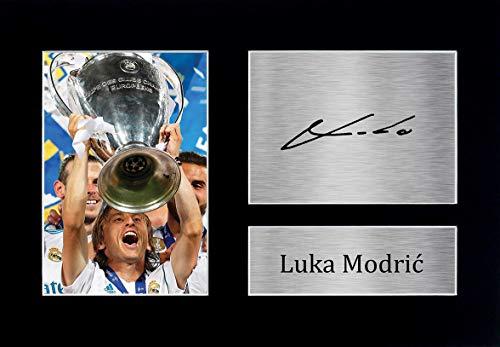HWC Trading Luka Modric A4 Senza Cornice Firmato Regalo Visualizzazione delle Foto Print Immagine Autografo Stampato per Real Madrid Tifosi di Calcio