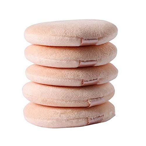 5 pièces Flocage Maquillage ronde éponge coussin d'air Powder Puff Blending éponge pour la crème liquide et poudre
