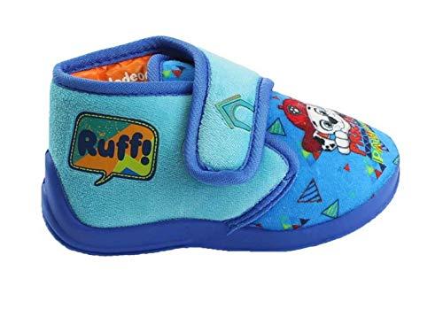 Theonoi - Zapatillas cálidas para niños de estar por casa con diseño de La patrulla canina, un regalo ideal para niños, color, talla 25/26 EU
